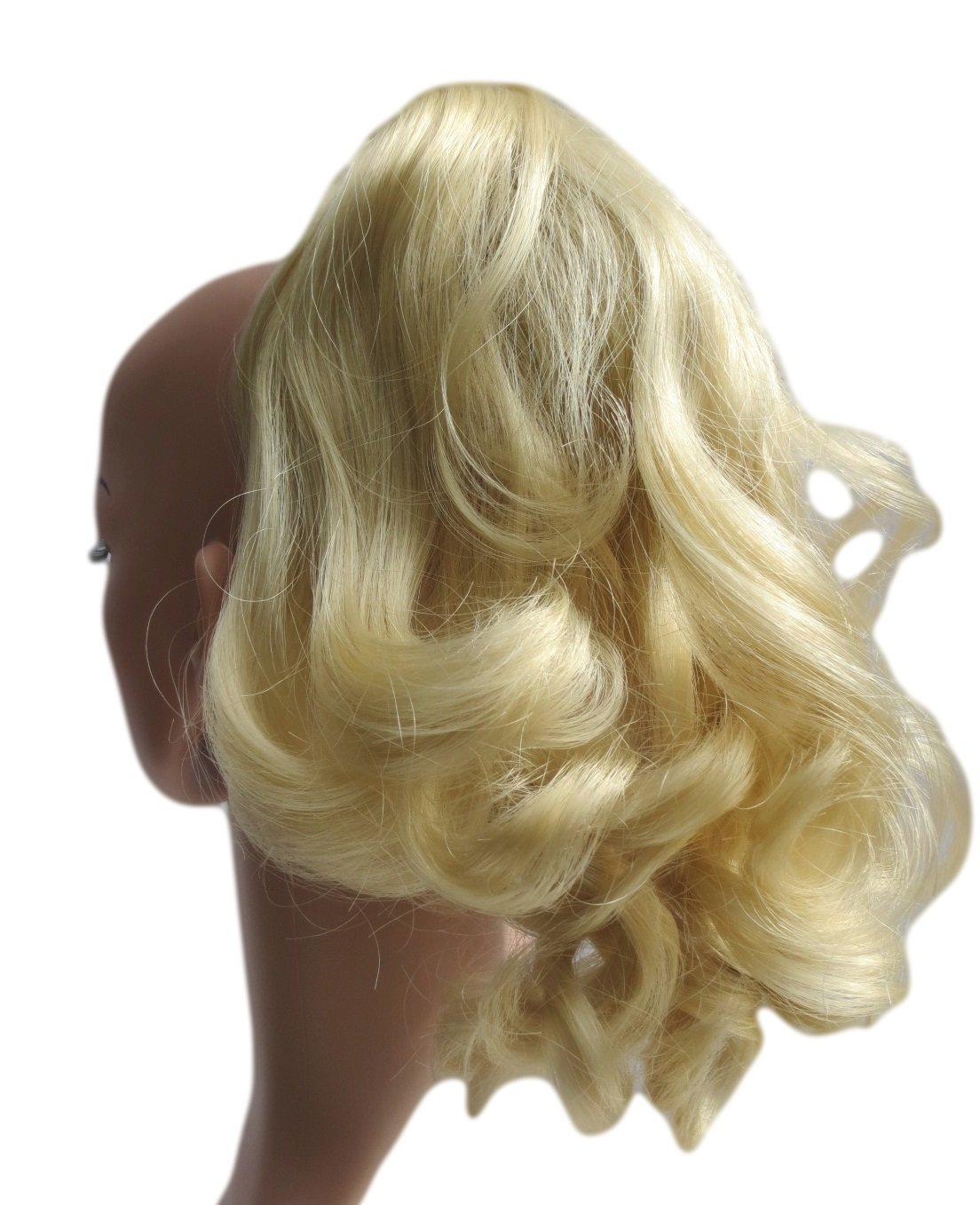 SWEET SHORT CURLY PONY TAIL HAIR EXTENSION, (CLAW GRIP) (01 Jet Black) Vanessa Grey Hair Designs P178 SHORT