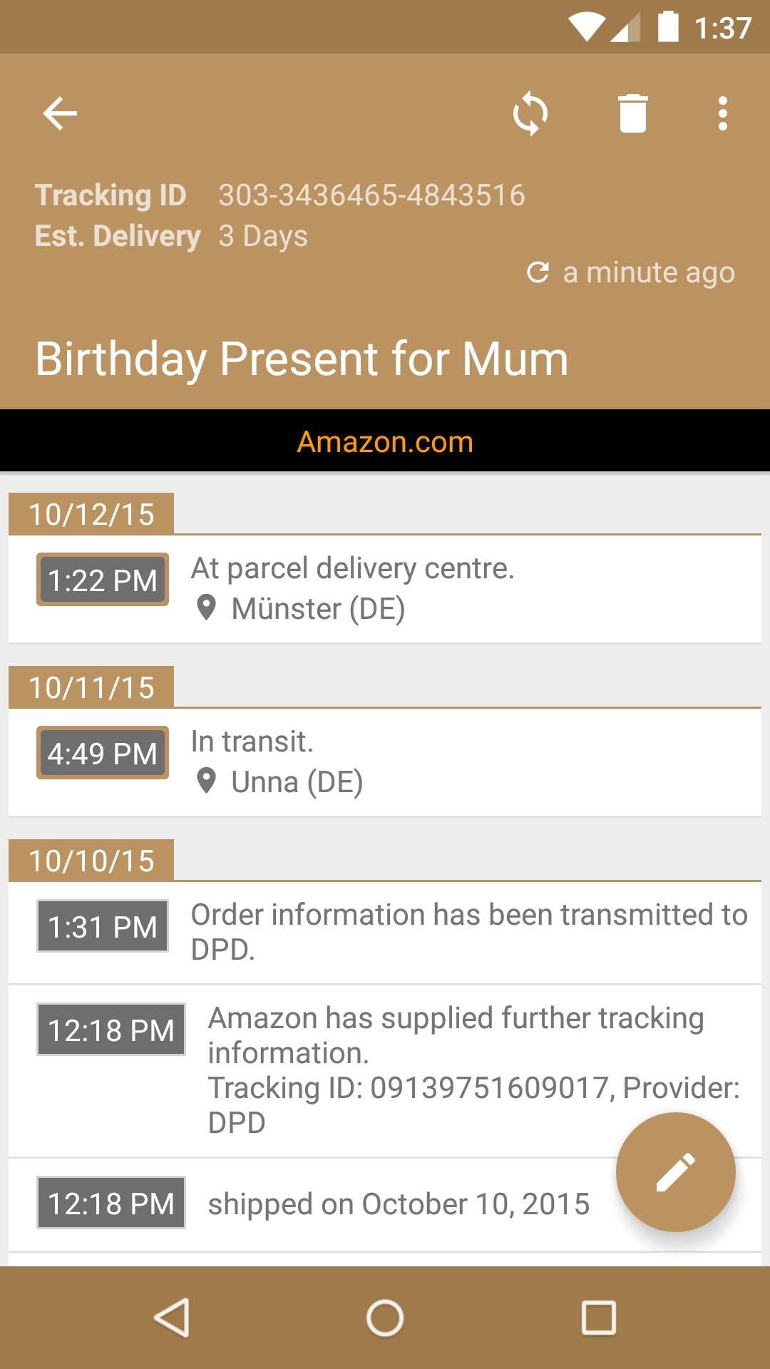 Amazon Com Deliveries Package Tracker Appstore For Android