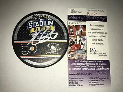 d8d9e64a5 Kris Letang Signed   Autographed 2017 Stadium Series Pittsburgh Penguins  Hockey Puck - JSA Certified