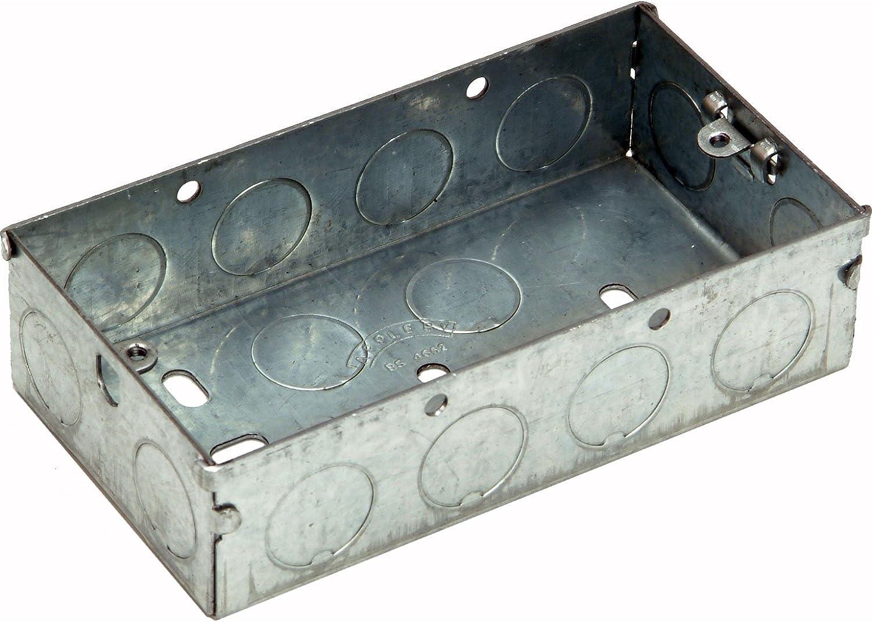 Advanced SMJ UK (XS) 35 mm 2 Gang caja metálica [unidades 3] – -: Amazon.es: Iluminación