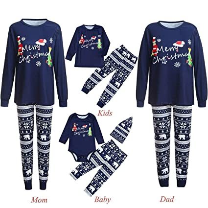 3c0015cab5 Amazon.com  WensLTD 2018 Family Pajamas Set
