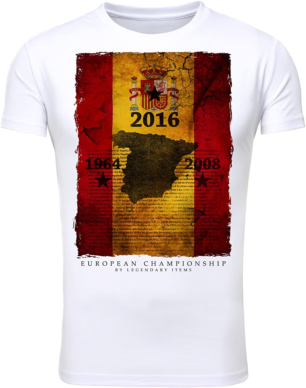Legendary Items camiseta España España Fútbol Fútbol EM 2016 Camisa De Hombre Bandera - algodón, blanco, 100% algodón, hombre, XL: Amazon.es: Ropa y accesorios