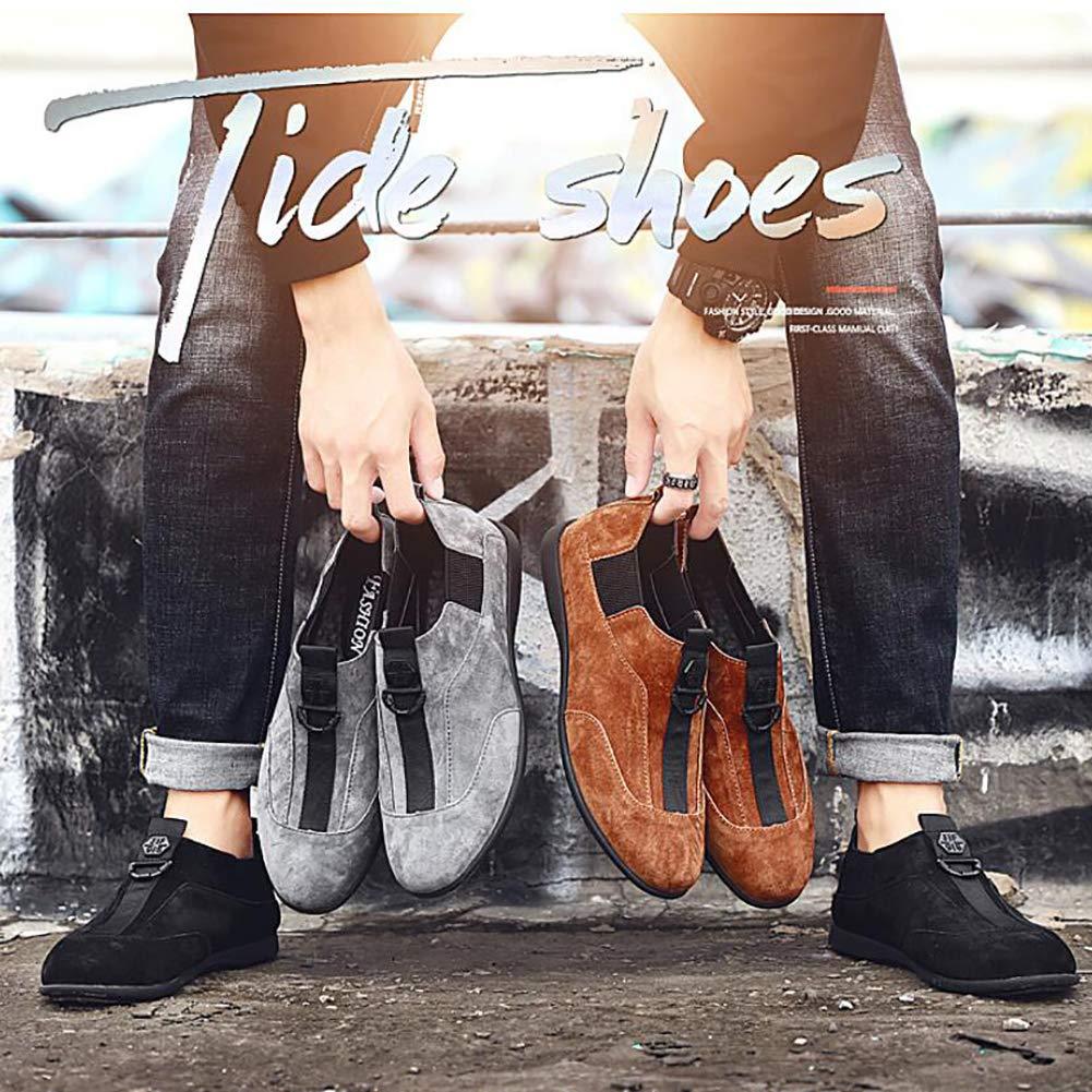 FHTD Mocasines Casuales Casuales Casuales De Cuero Para Hombre Mocasines Mocasines Y Mocasines Zapatos De Conducción Negro, Marrón, Gris ddb70f