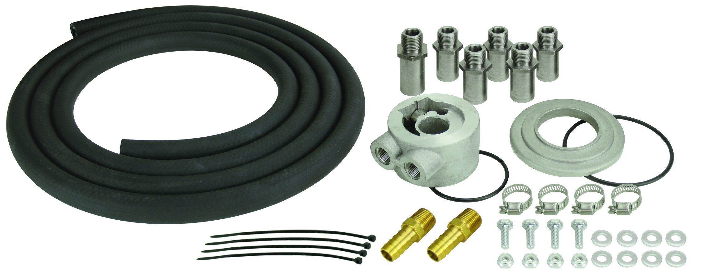 Derale 15751 Engine Remote Oil Cooler Mounting Kit