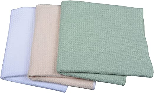3Pack 100/%Cotton Waffle Weave Kitchen Towel 18x26 Quick Dry Cleaning Dish Towels