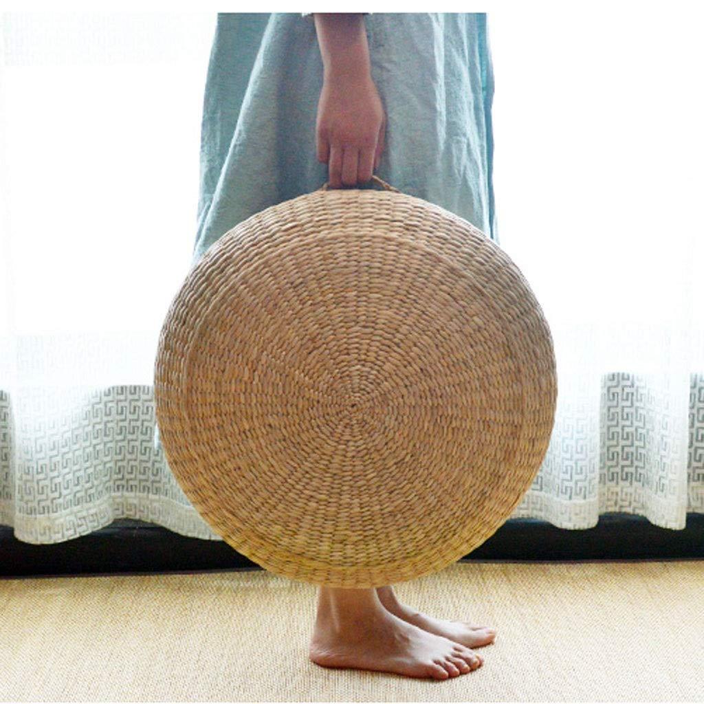 RXY-Wicker chair Straw Futon Cushion, Thicker Home Meditation Yoga Cushion, Floor Mat (Size : 45x11cm)
