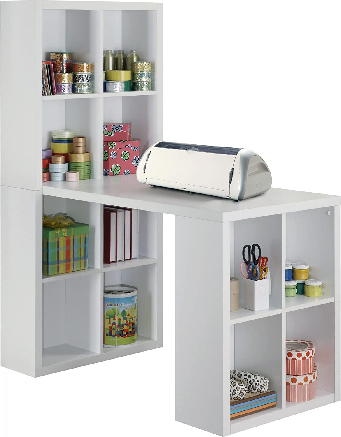 Altra Furniture Hollow Core Hobby Desk, White: Amazon.in: Home & Kitchen