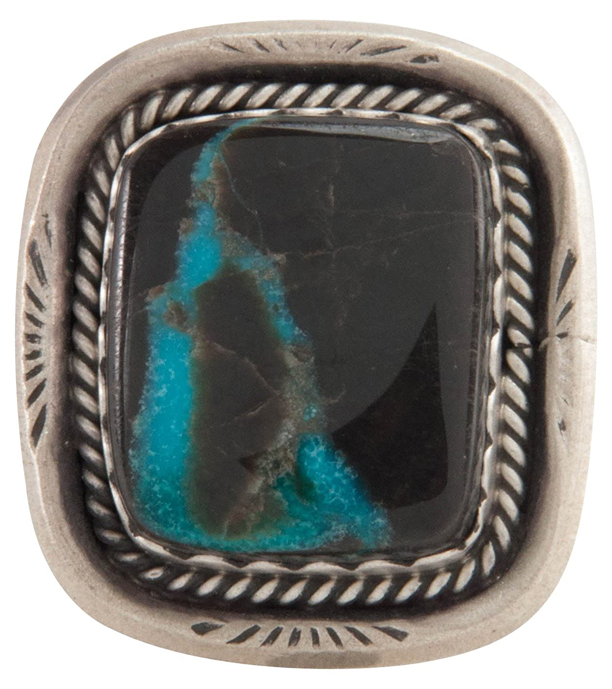 b63367bcb1d9 Amazon.com  Arthwick Store Navajo Native American Indian Mountain Turquoise  Ring Size 7 1 4  Jewelry