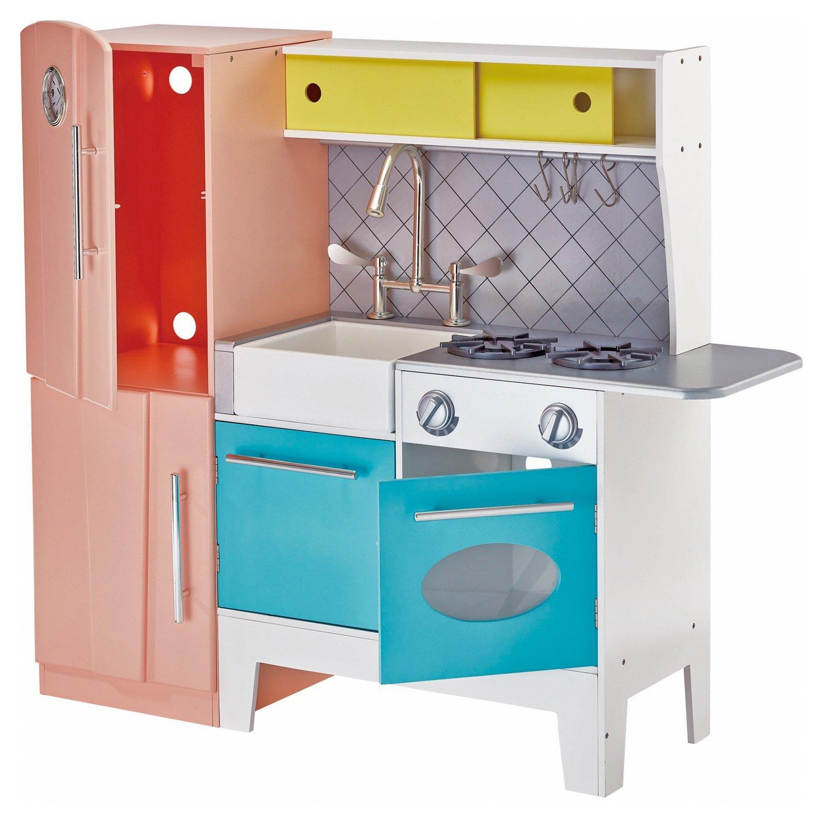 Teamson Design Kids Playful Bubble Gum Wooden Play Kitchen