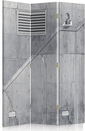Feeby Frames, biombo Interior, biombo Lienzo, biombo Déco, Barrera de separación, biombo 3 o 4 Paneles Arquitectura, escaleras, Mujer, Bâtiment, 1 Face 110x180 cm: Amazon.es: Hogar