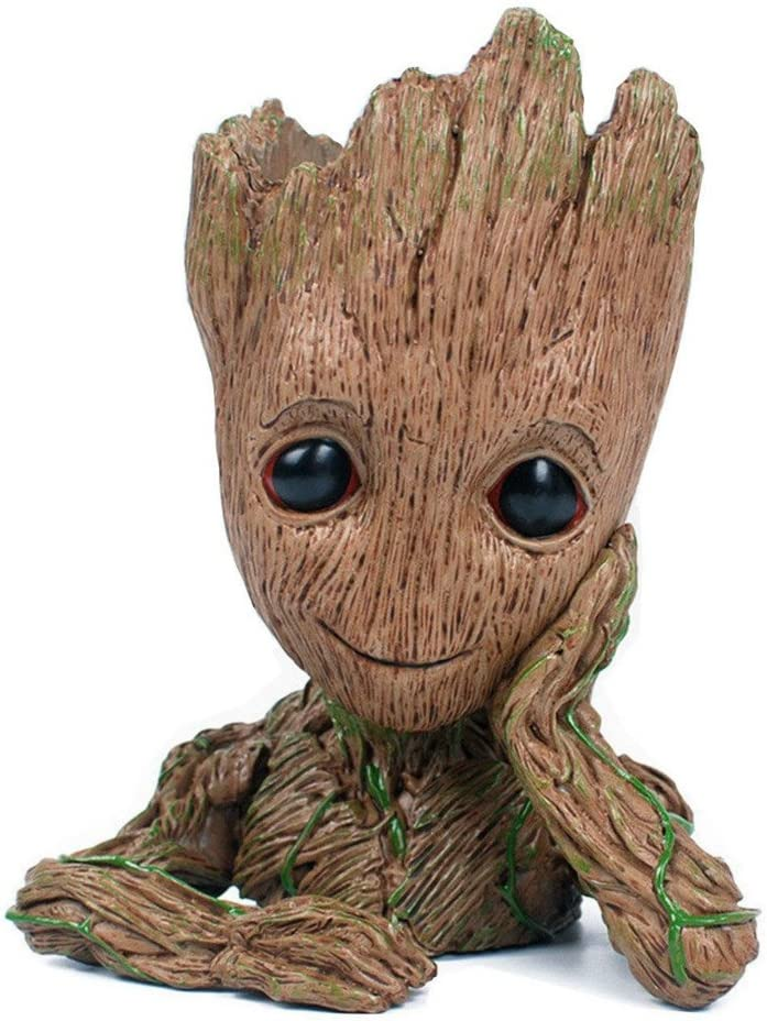 Mini Flower Pot Figure Guardians Of The Galaxy New Baby Groot Pen Holder