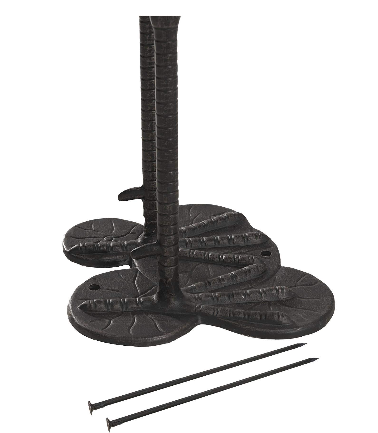 Metal Cranes for Yard Garden Sculpture Pair Statue - Upright and Preening Standing Crane Heron Couple Sculpture Set, Matt Black by PierSurplus (Image #6)