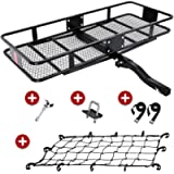 KING BIRD Upgraded 550LBS Capacity 60' x 24' x 6' Hitch Mount Folding Cargo Carrier Fits to 2'' Receiver,Heavy Duty…