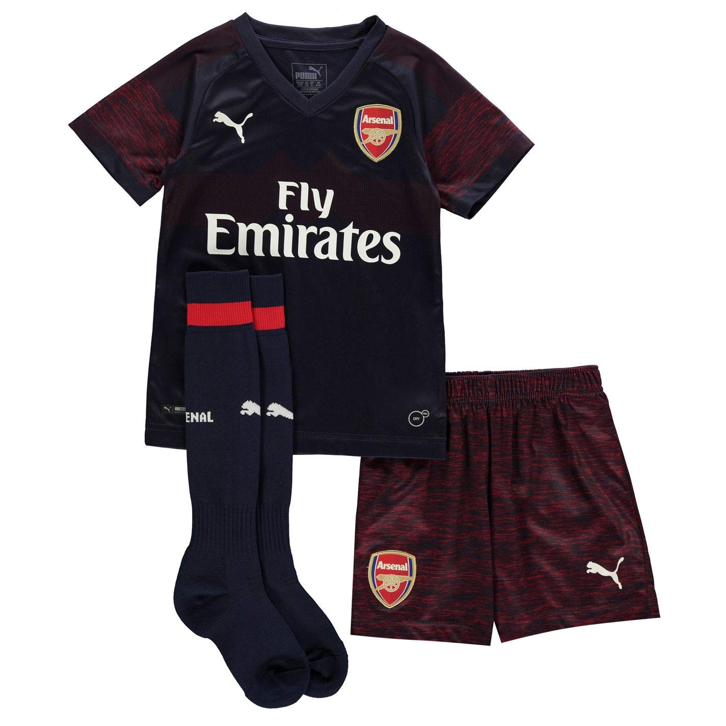 Puma Boys Arsenal Away Mini Kit 2018 2019