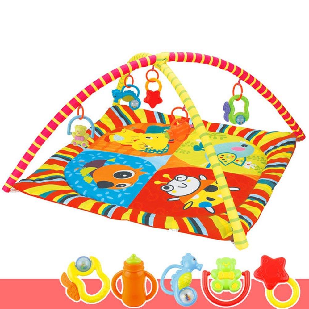 Wildlead bambini Baby fitness rack palestra tappetino gioco coperta per gattonare giocattoli per lo sviluppo intellettuale, A
