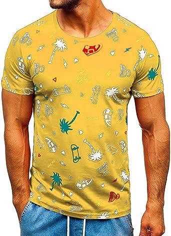 Luckycat Camiseta Hombre tee Cuello Redondo Tops Camisa Ropa Hombre Deportiva 2020 Hombre Camiseta de Manga Corta Escote Redonodo Camiseta de Algodón Estampado Estilo Diario: Amazon.es: Ropa y accesorios