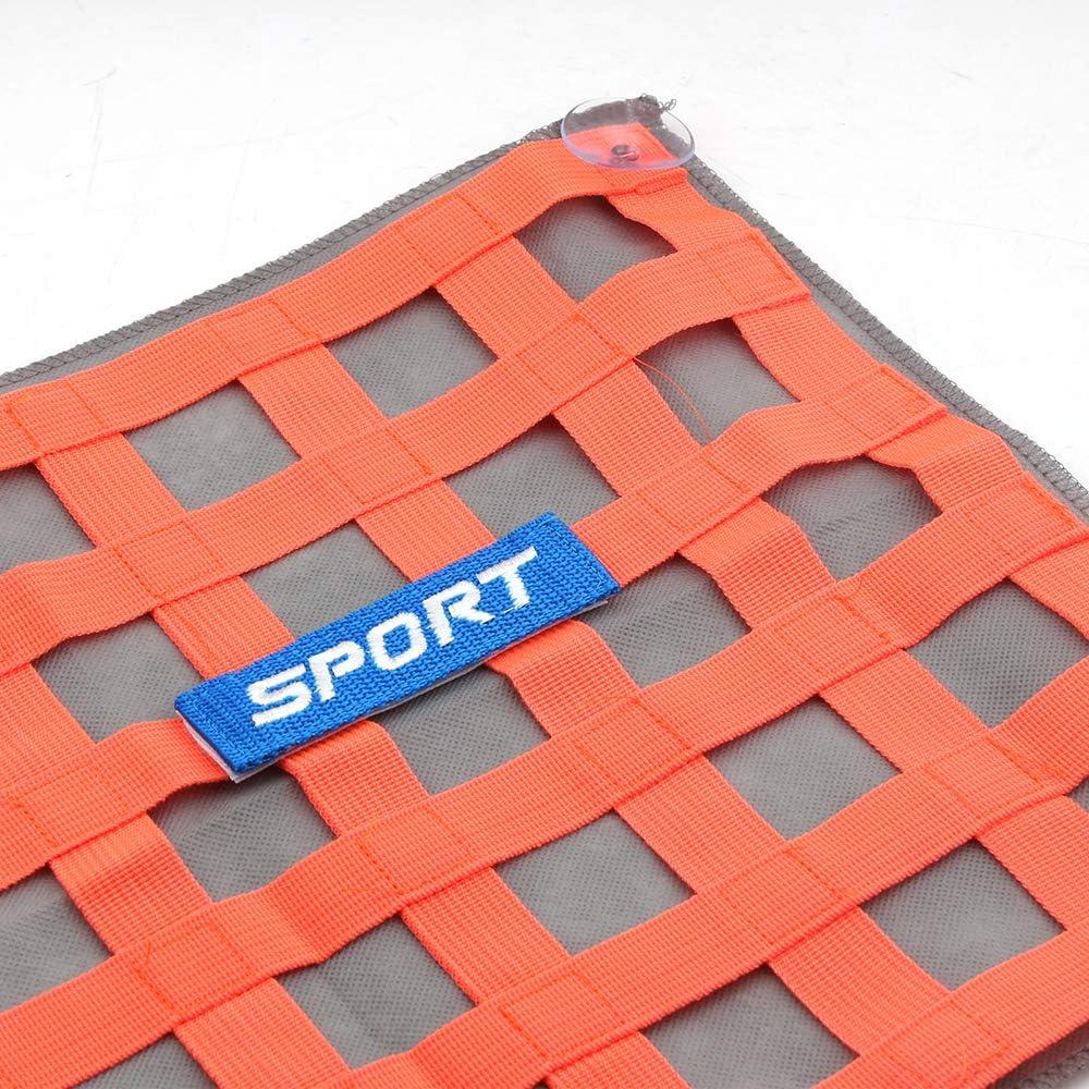 KKmoon Race Sicherheits Netz Auto Fenster Sicherheitsnetz Sonnenschutz Dekor Orange
