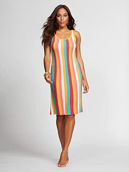 b1277051fb5 Amazon.com: New York & Co. Sweater Dress - Gabrielle Large School ...
