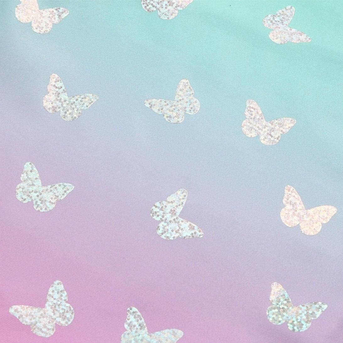 Kid Toddler Girls Gradient Butterfly Print One Piece Swimsuit Cover up Swimset 1-4T Moonker Hot Sale Baby Swimwear