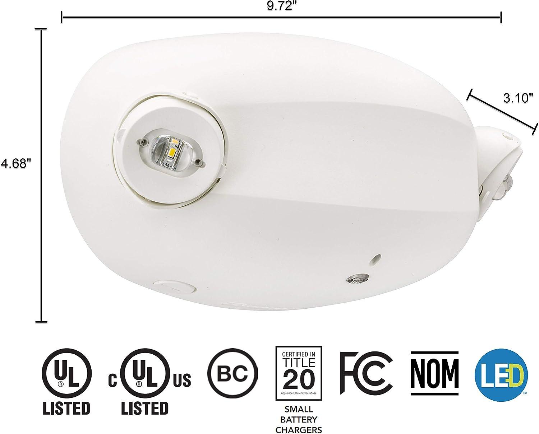 MVOLT Standard Test Lithonia Lighting ELM2L M12 LED Adjustable Emergency Sign 2.4 watts White 220 Lumens