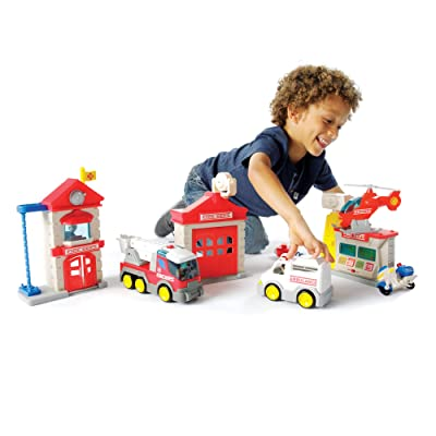 Fat Brain Toys Fire Station Playset: Toys & Games
