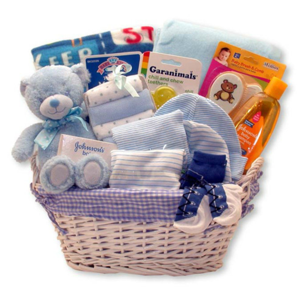 Amazon Baby Gift Basket Birthday Christmas Thank You Necessities Set For New Mom And Dad Kids Boys Girls Blue