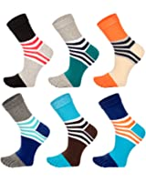 Sokaya 靴下 メンズ 5本指 綿 スポーツ ソックス 滑り止め付き ファッション 抗菌消臭 吸汗速乾 通気 ギフト 6足セット
