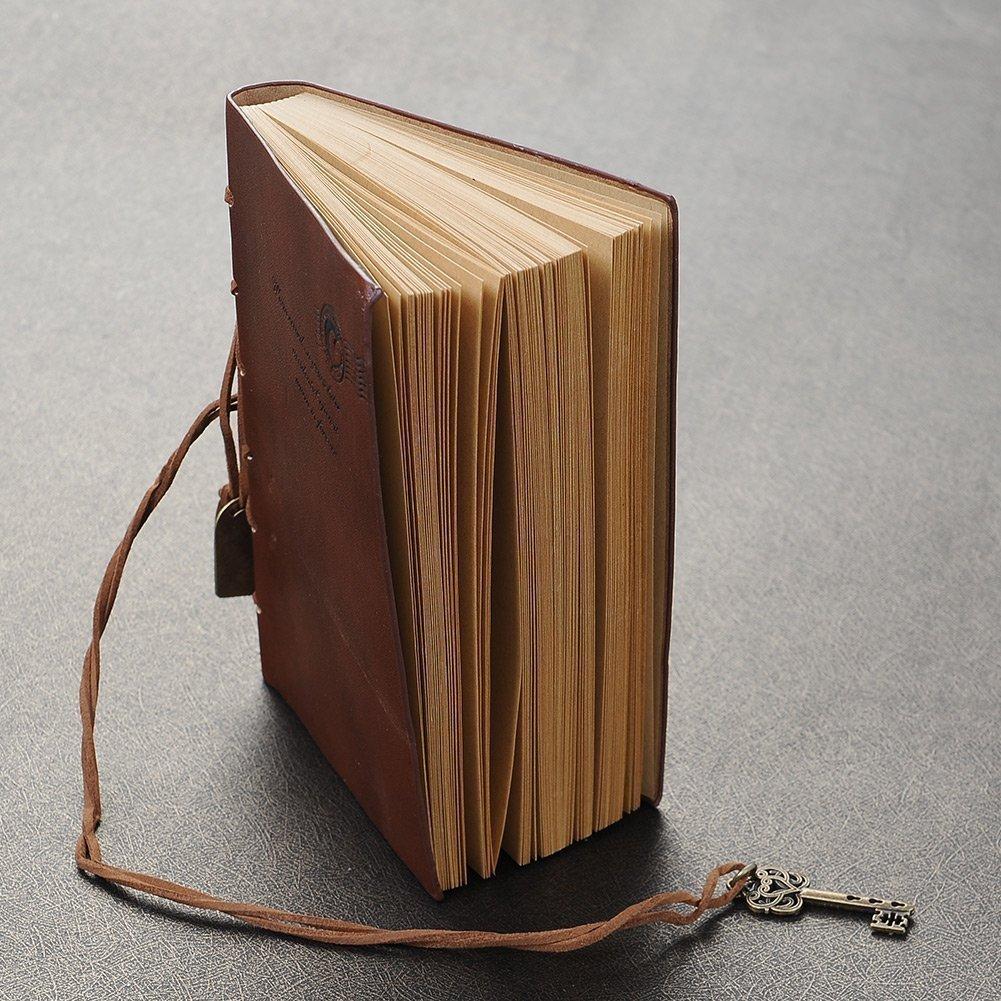 Nalmatoionme Journal Diary string Key retro vintage Classic Leather Bound notebook (marrone)