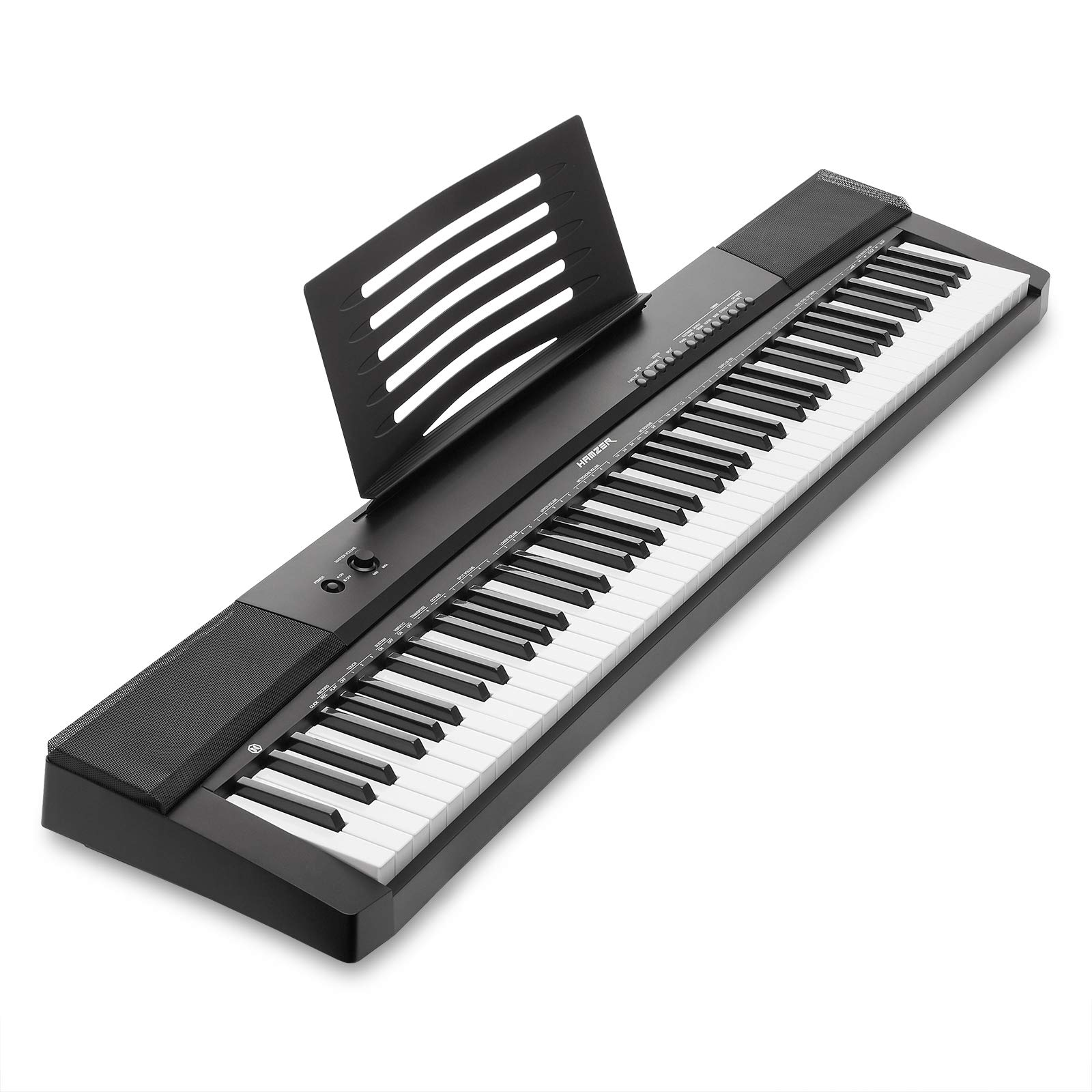 Hamzer 88-Key Electronic Keyboard Portable Digital Music Piano with Touch Sensitive Keys by Hamzer (Image #3)