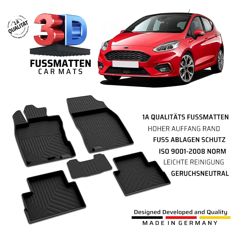 2017 Fußmatten 4-tlg. Autoteppiche für Ford Fiesta MK8 ab 06