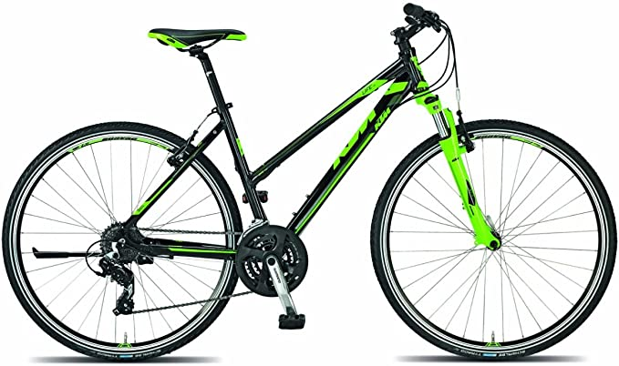 KTM Life One DA bicicleta híbrida 2015 negro verde RH 43 cm 13,70 ...