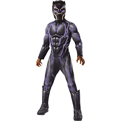 Rubie's Costume Light-Up Black Panther, Black Panther Movie Halloween Costume for Boys with Included Accessories, Small: Clothing
