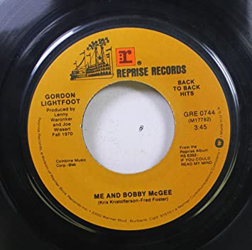 GORDON LIGHTFOOT 45 RPM ME AND BOBBY MCGEE / IF YOU COULD READ MY ...