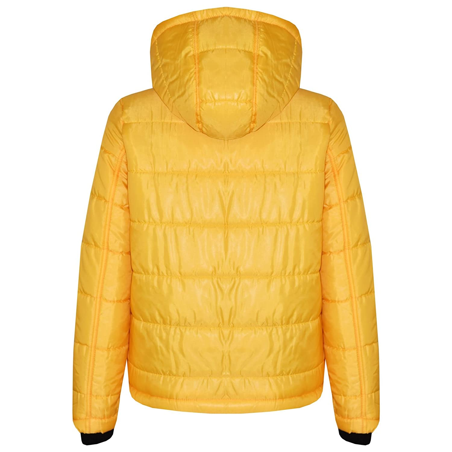 A2Z 4 Kids/® Girls Jacket Kids Bella High Shine Mustard Hooded Padded Quilted Puffer Jackets