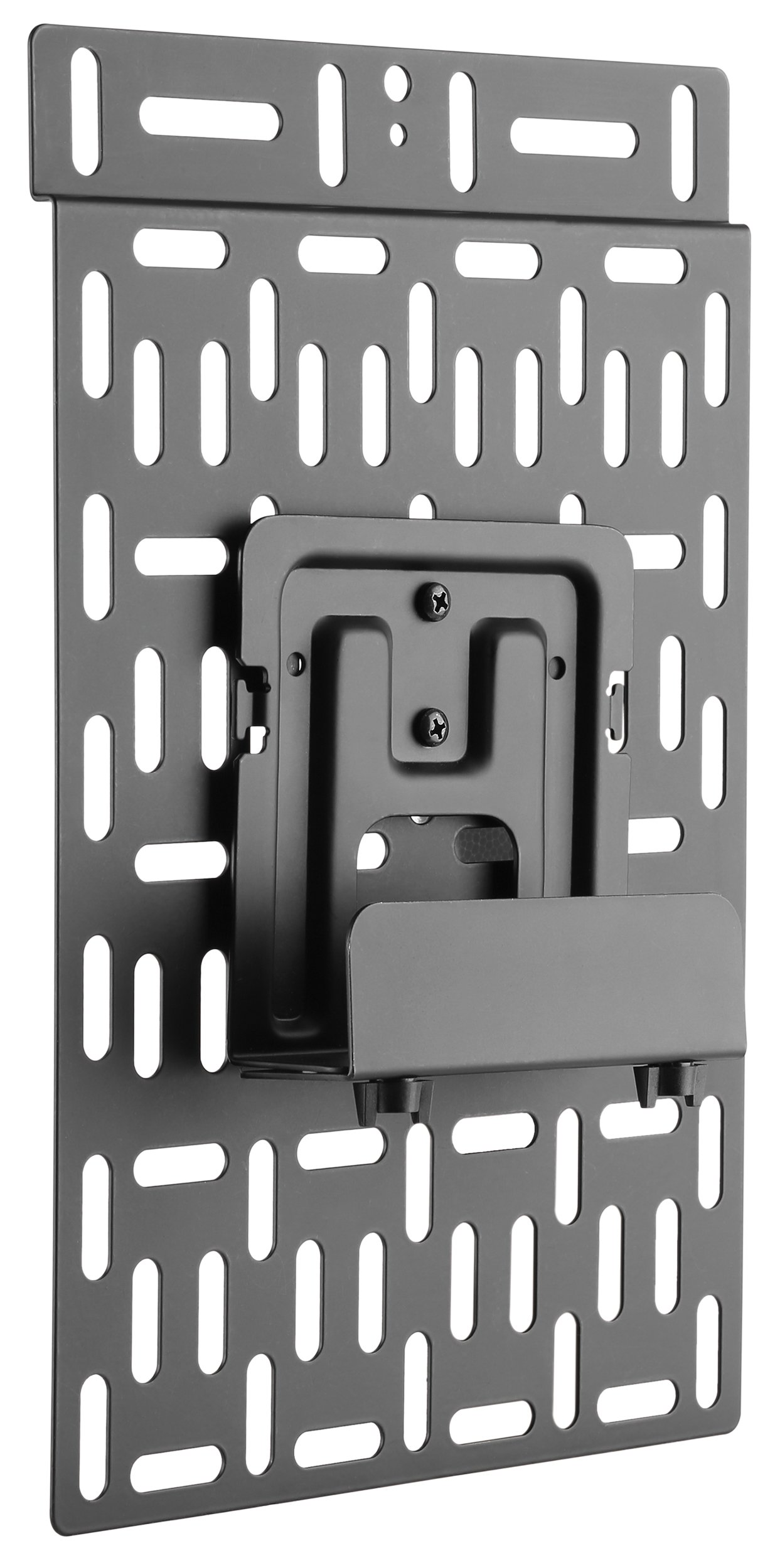 VIVO Black Universal Streaming Device Bracket Mount Attaches to Wall or Back of TV | Fits Amazon Fire, Apple TV, Roku Streaming Media Players, TiVo, and More (MOUNT-ALL01)