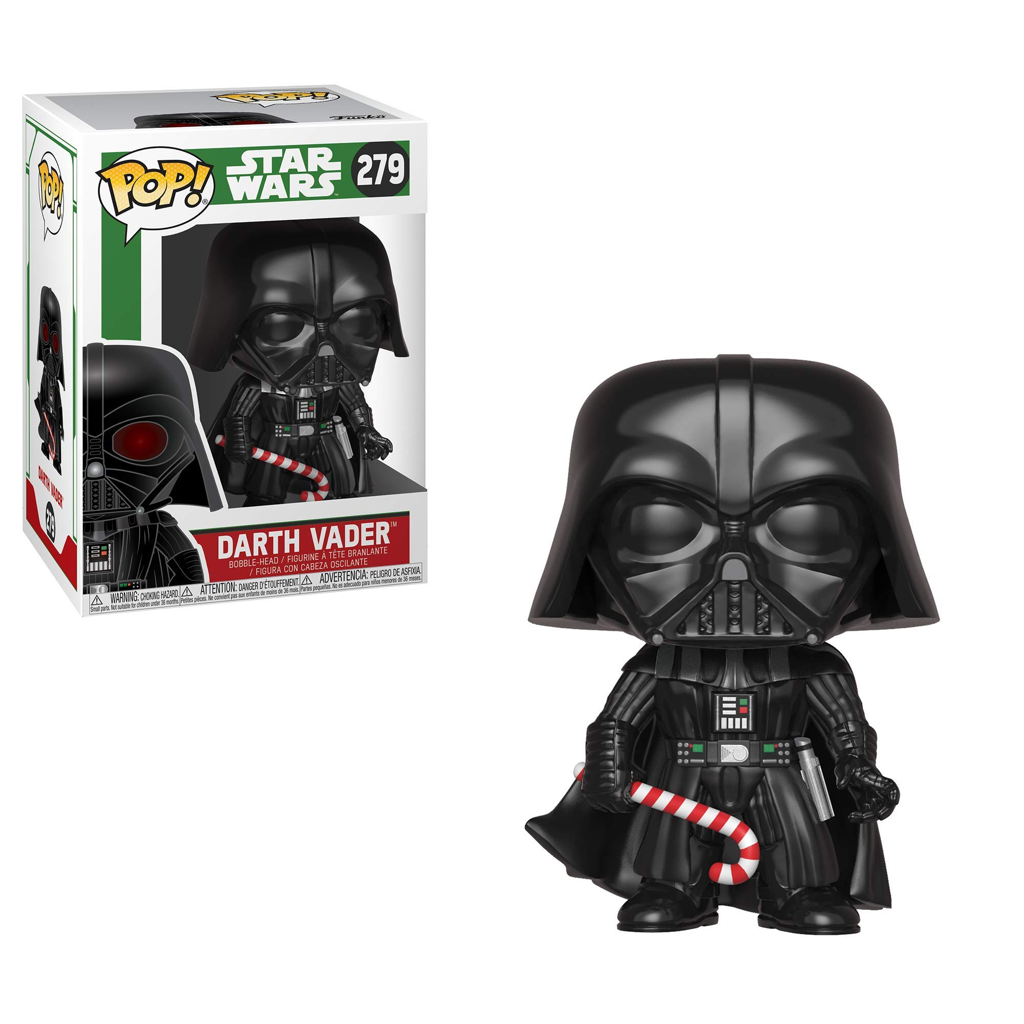 Funko Pop Star Wars: Holiday - Darth Vader with Candy Cane (Styles May Vary) Collectible Figure, Multicolor by Funko (Image #2)