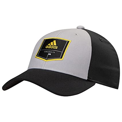5d2f0ca6f3e adidas Men s Golf Patch Trucker Hat Midnight Gray One Size Fits Most