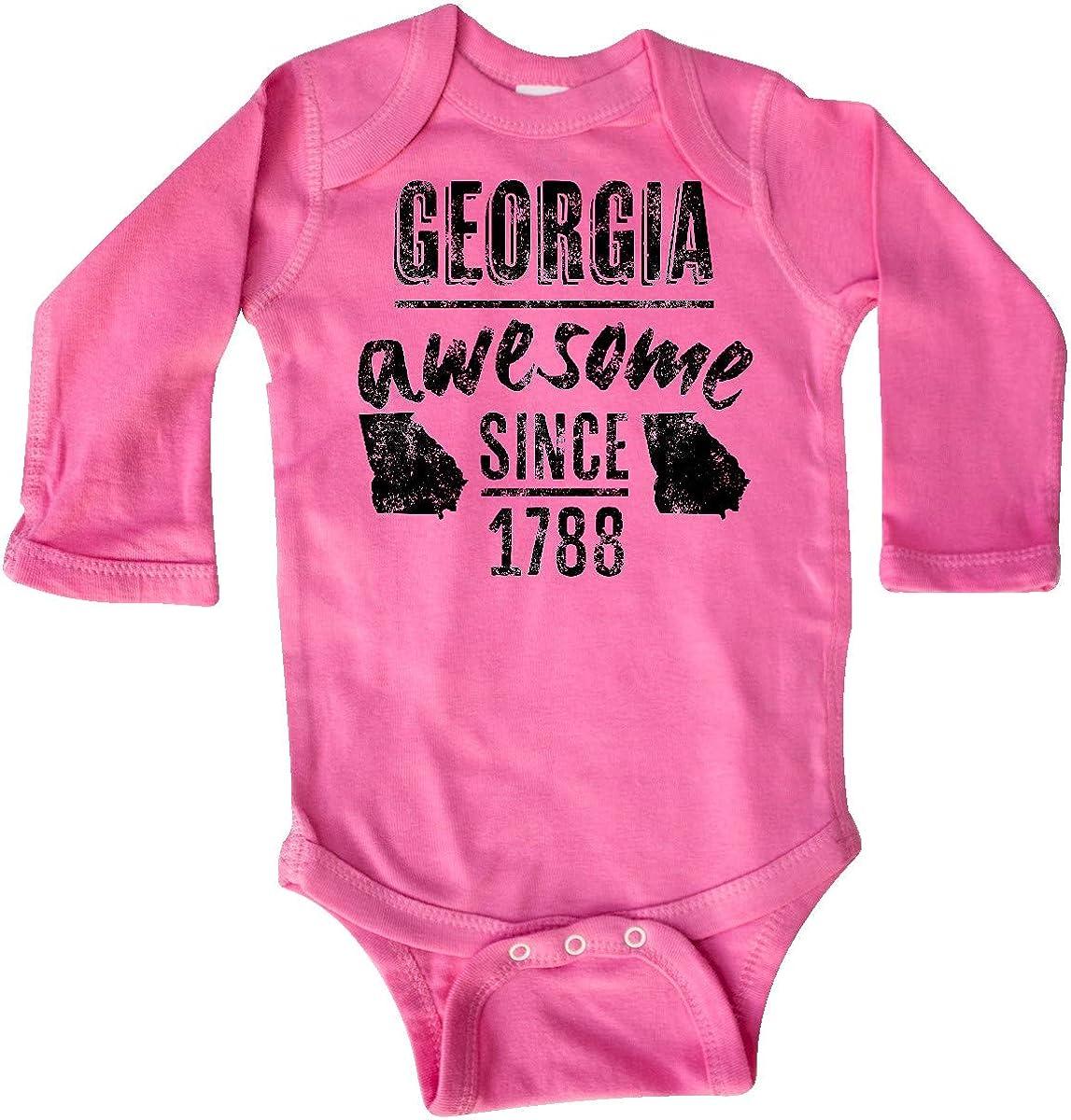 inktastic Georgia Awesome Since 1788 Long Sleeve Creeper