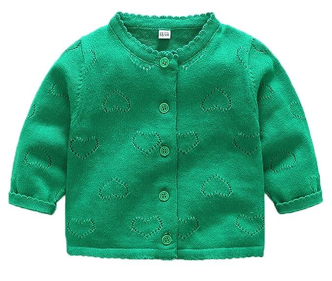 GEMVIE Abrigo para Bebé Niñas en Punto Suéter Traje Ropa con ...