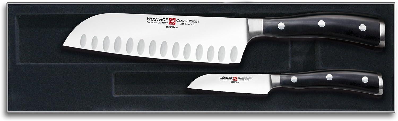 Compra Wüsthof Classic-Ikon - Estuche con cuchillos Santoku y puntilla en Amazon.es