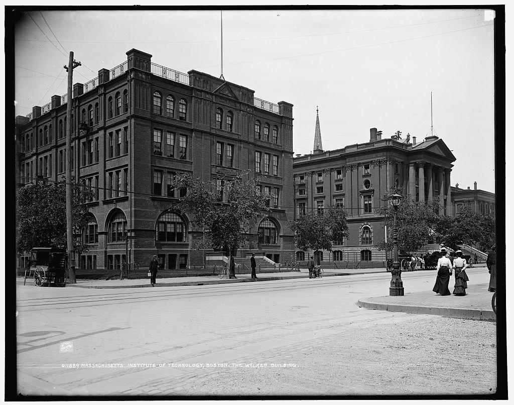 Vintography 24 x 30 Giclee Unframed Photo Massachusetts Institute Technology Boston The Walker Building 1896 Detriot Publishing co. 44a