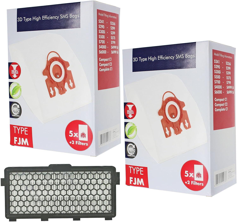 SPARES2GO 3D FJM Hyclean bolsas tipo de + filtro para aspiradoras ...