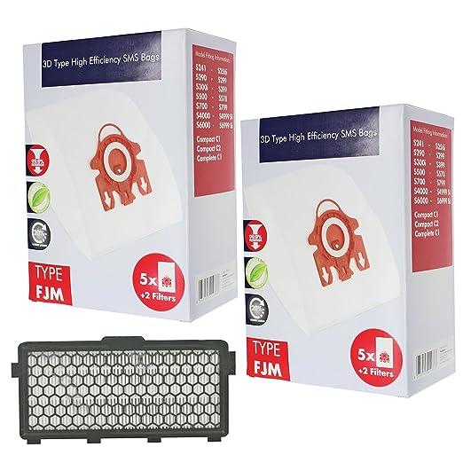 SPARES2GO 3D FJM Hyclean bolsas tipo de + filtro para ...