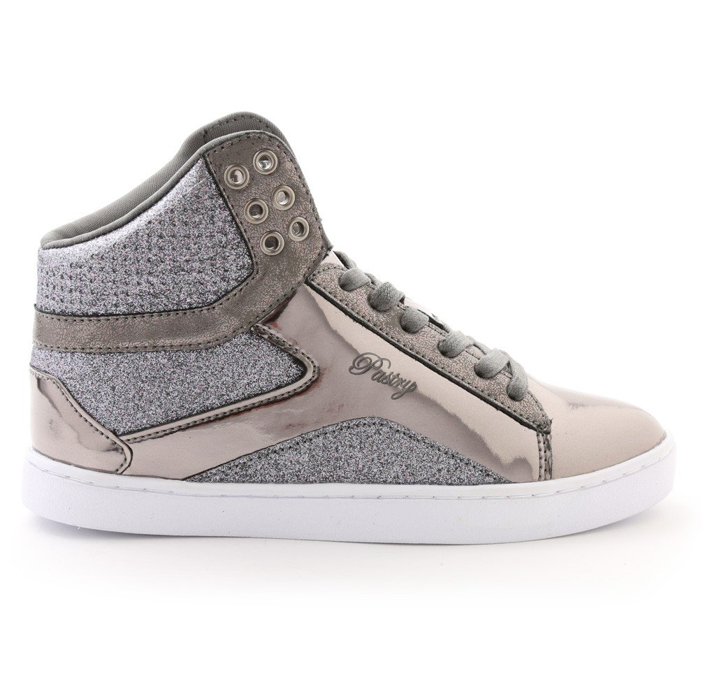 Pastry Pop Tart Glitter High-Top Sneaker & Dance Shoe for Kids B01N35UWS9 Size 2|Gunmetal
