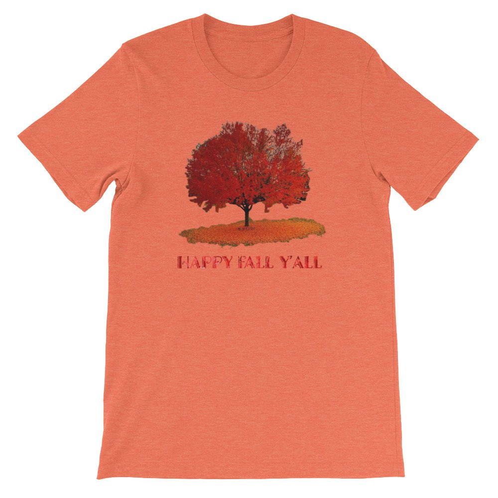 Tronic Worx Happy Fall Yall Autumn Tree Leaves T-Shirt