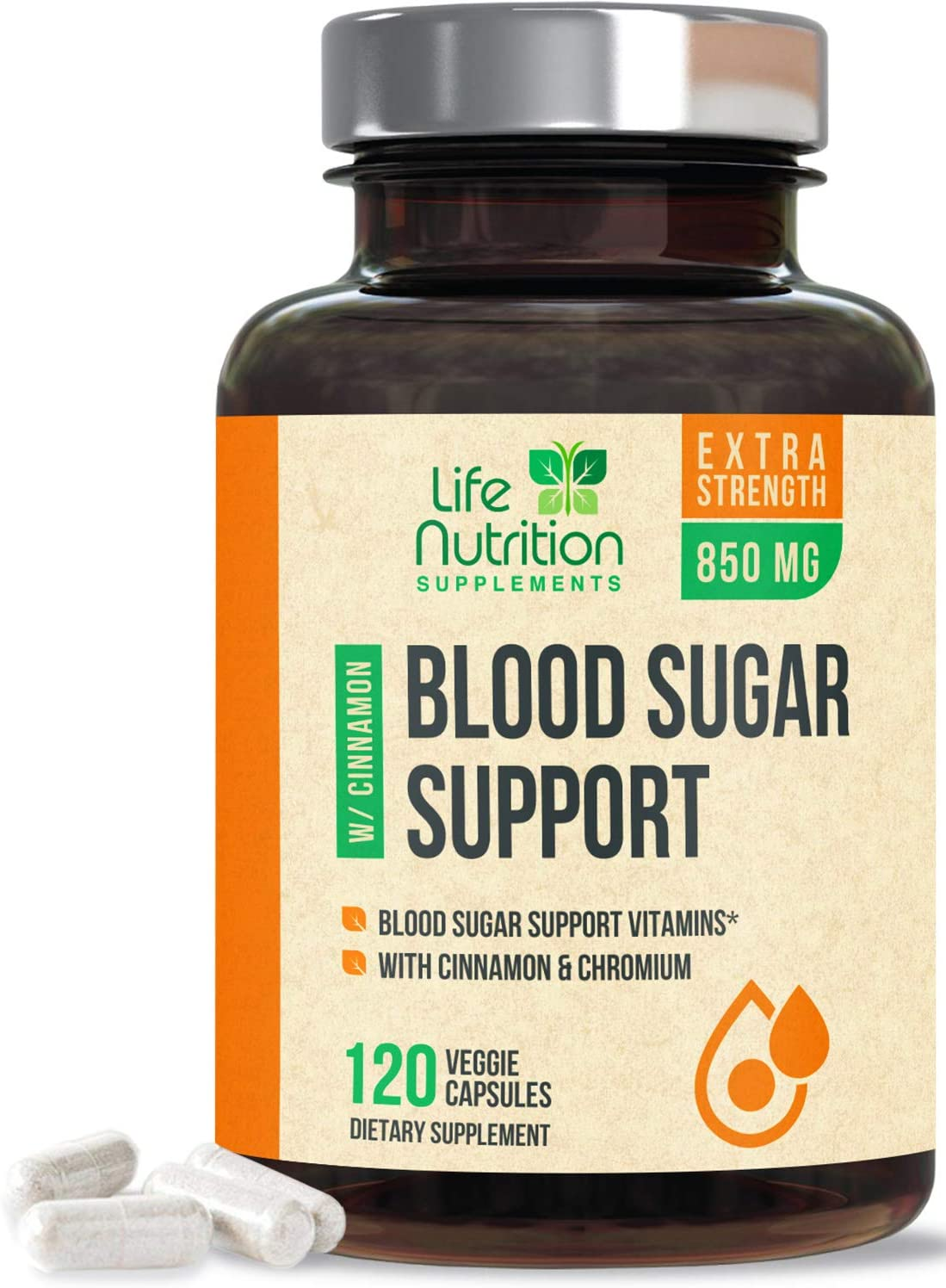 Blood Sugar Support Supplement Extra Strength Glucose Support 1197mg - Made in USA - Best Vegan Multivitamin Blend with Cinnamon, Chromium, Bitter Melon & Alpha Lipoic Acid - 120 Capsules