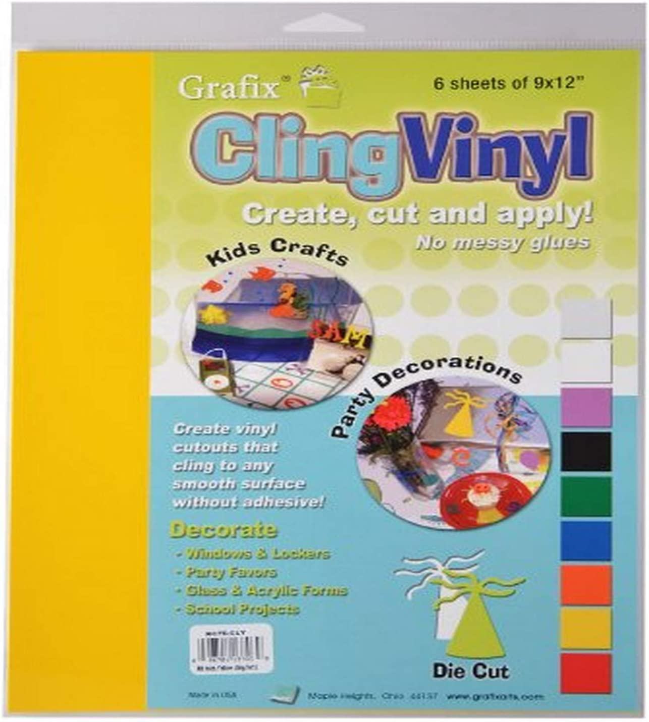 50-Pack Grafix 9-Inch-by-12-Inch Cling Film Purple
