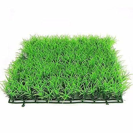 Planta de césped artificial acuática verde hierba de acuario, acuario, pecera, paisaje nuevo