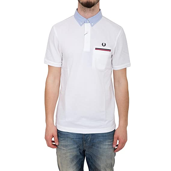 Fred Perry - Polo Fred Perry Bigg Boss Slim Fit - 2XL, Blanco ...