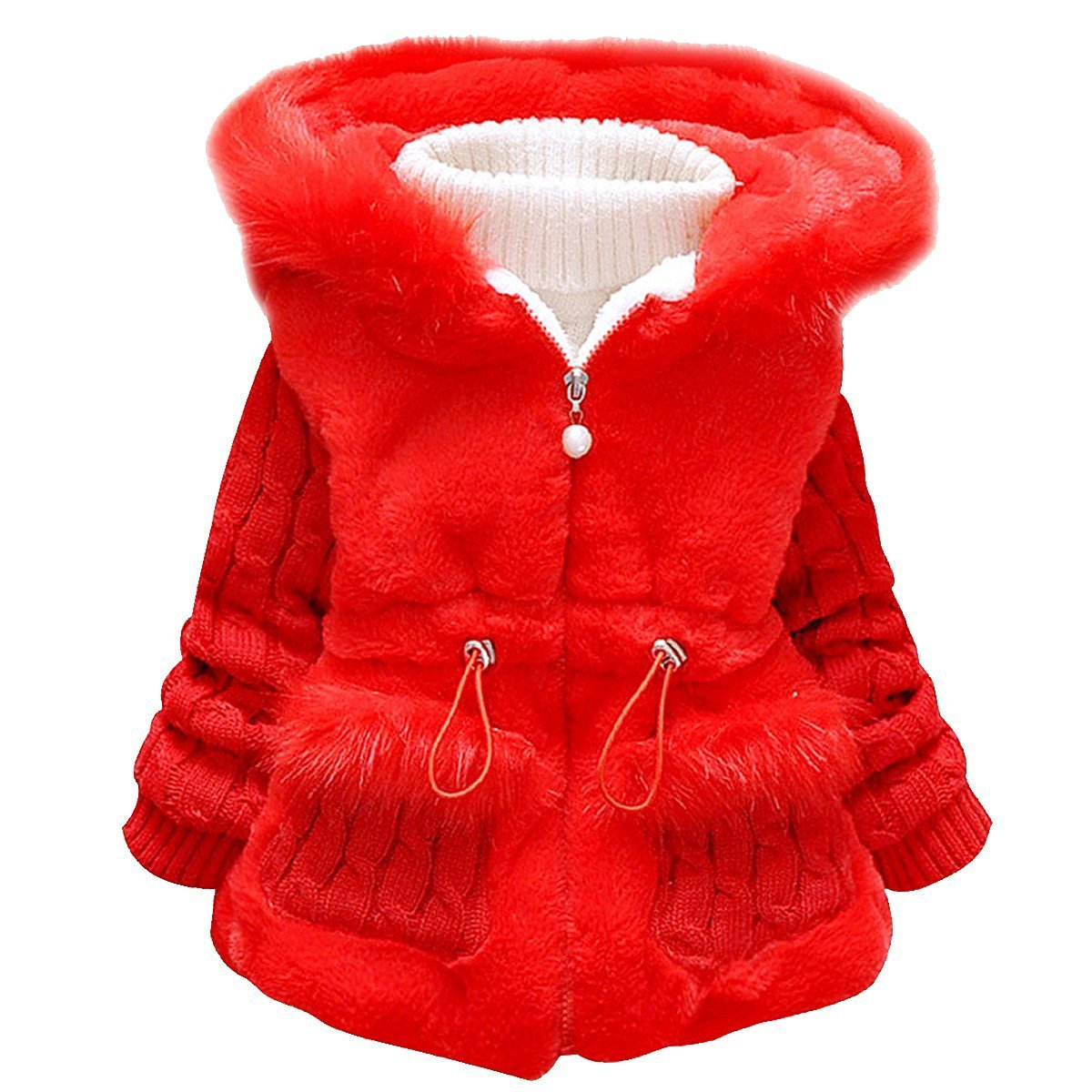 LUKYCILD Baby Girl Winter Thick Warm Jacket Coat Hooded Snowsuit G311